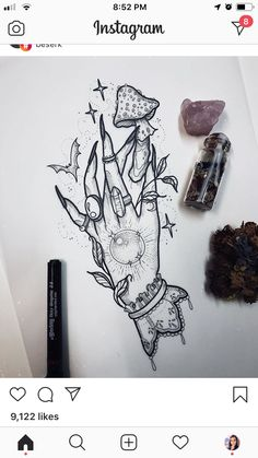 **SOLD** Witch hand i would really like to tattoo. To book please email me at st. - **SOLD** Witch hand i would really like to tattoo. To book please email me at stephanietattooer… - Mini Tattoos, Leg Tattoos, Body Art Tattoos, Small Tattoos, Sleeve Tattoos, Turtle Tattoos, Tribal Tattoos, Tattoo Sketches, Tattoo Drawings