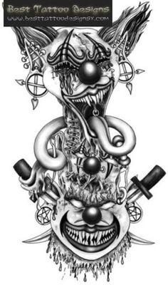 Evil Jack In The Box Tattoo Designs evil clown tattoo designs 4 . Lace Tattoo Design, Sketch Tattoo Design, Tattoo Sleeve Designs, Tattoo Sketches, Tattoo Drawings, Sleeve Tattoos, Gangsta Tattoos, Badass Tattoos, Kunst Tattoos