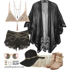 Coachella Gypsy Chic by annellie on Polyvore featuring Anna Sui, Dolce&Gabbana, Rupert Sanderson, Rebecca Minkoff, GUESS, Wet Seal, Monsoon, Accessorize, Topshop and Tildon
