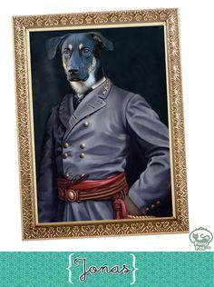 dog Jonas as a General (www.pimppet.com)