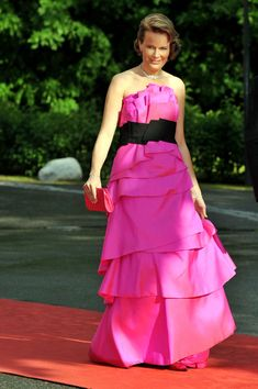 Princess Mathilde of Belgium attends the Government Pre-Wedding Dinner for Crown Princess Victoria of Sweden and Daniel Westling at The Eric Ericson Hall on June 18, 2010 in Stockholm, Sweden.