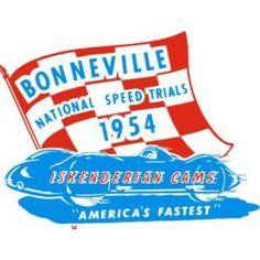 Iskenderian Cams: Bonneville National Speed Trials, 1954 Pith Helmet, Window Decals, Trials, Windows, Window Stickers, Ramen, Window