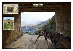 Omaha Beach MG Position, dog green sector