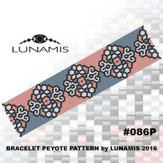 Peyote bracelet pattern odd count peyote por LunamisBeadsPatterns