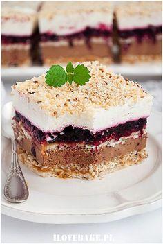 Sezamowiec bez pieczenia - I Love Bake No Bake Desserts, Delicious Desserts, Yummy Food, Cake Recipes, Dessert Recipes, Polish Recipes, Food Cakes, Cupcake Cookies, Beautiful Cakes