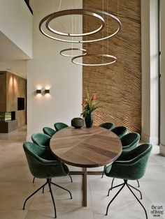 Luxury Dining Room, Dining Room Lighting, Dining Room Design, Interior Design Kitchen, Home Design, Modern Interior, Dining Room Inspiration, Home Living Room, Dining Table