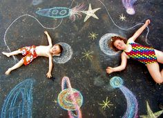 Chalk photo project with the kids:) we had a blast!