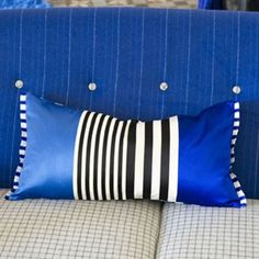 Taru Cobalt Pillow- Designers Guild