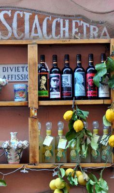 Sciacchetrà, a sweet dessert wine, is a Ligurian specialty. Monterosso, Liguria, Italy