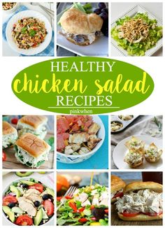 12 Amazing Chicken Salad Recipes Baked Chicken Tacos, Chicken Tostadas, Chicken Taco Recipes, Healthy Chicken, Chicken Salads, Healthy Food, Homemade Mozzarella Sticks, Baked Goat Cheese, Pizza