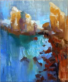 """White Cliffs""  Oil Painting  Created by Cathy Locke"
