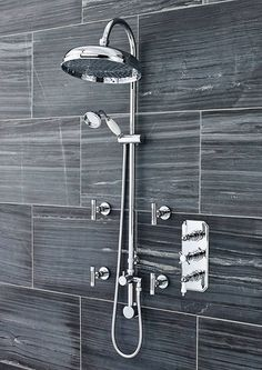 Awesome Ultra Traditional Triple Concealed Shower With Luxury Shower Kit U0026 4 Body  Jets