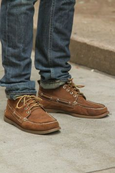 sperry boots and jeans