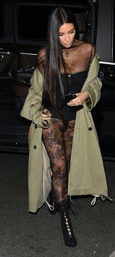 Kim kardashian out for dinner in Paris, France, october 1, 2016