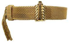 Mesh Slide Bracelet w/ Tassel - Bracelets - Jewelry - Gifts & Accessories - Decor & Entertaining One Kings Lane Tassel Bracelet, Bracelets, Traditional Living Room Furniture, Kings Lane, Jewelry Gifts, Tassels, Mesh, Entertaining, Bags