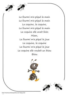 ".. Printemps .. "" les fourmis "" Circle Time Songs, Petite Section, French Class, Primary Music, Teaching French, My Job, Activities For Kids, Classroom, Science"