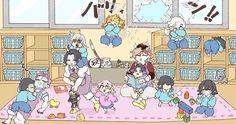 Slayer Meme, Demon Slayer, My Hero Academia Tsuyu, Twitter Backgrounds, Kawaii, Anime Demon, Anime Chibi, Akatsuki, Doujinshi