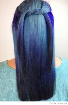 Cool blue tones for hair