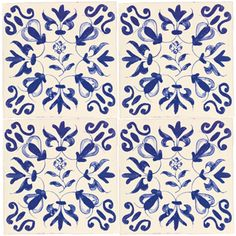 Blue Flower - The Potteries - Wall & Floor Tiles | Fired Earth