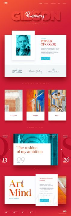 New promo #website #design and #Ui conception for the artist Roney Gibson, by Mike | Creative Mints (terrific–awesome–designer) on Dribbble.