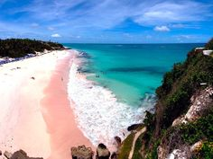 Crane Beach, Barbados - One of the most beautiful beaches I've been to. I loved the pink sand so much that I actually brought some home! :o)