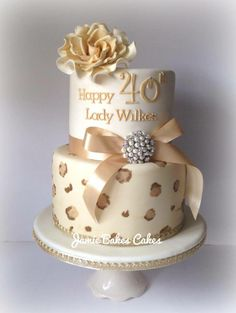 Animal Print, Bow  Bling Cake