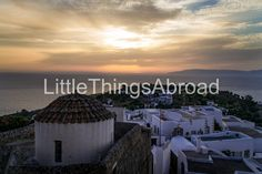 Patmos St. John Monastery photo, Greece, island, sunset, landscape, travel photography, rooftops, digital file instant download, printable by LittleThingsAbroad on Etsy