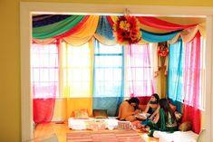 Mehendi party at home, mehendi decor, how to plan a mehendi, mehndi function Desi Wedding Decor, Diy Wedding Backdrop, Simple Wedding Decorations, Wedding Entrance, Diy Backdrop, Simple Weddings, Wedding Simple, Wedding Ideas, Wedding Inspiration