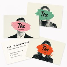 16 of the sweetest business card designs from some of the world's best designers | Creative Boom Design Web, Font Design, Graphic Design Typography, Graphic Design Illustration, Identity Design, Brand Identity, Visual Identity, Creative Logo, Creative Review