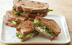 grilled goat cheese, asparagus & prosciutto sandwiches from @whole foods market