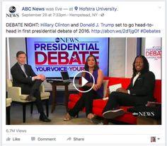 ABC News Hofstra debate live stream