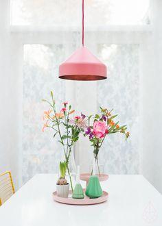 pretty dining - pink and mint