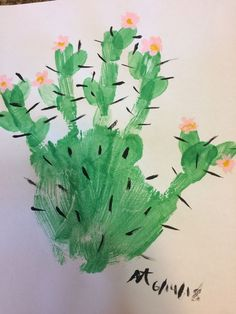 Cute Cactus painting, cute and incredibly easy! Cute Cactus painting, cute and incredibly easy! Cute Cactus painting, cute and incredibly easy! Cute Cactus painting, cute and incredibly easy! Daycare Crafts, Baby Crafts, Toddler Art, Toddler Crafts, Cactus Craft, Cactus Cactus, Indoor Cactus, Cactus Decor, Preschool Crafts