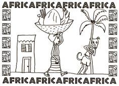 En mi cole estamos realizando un proyecto sobre África. En cada clase, aparte de otras cosas, trabajaron un animal africano. Eso me dio ... African Art, Coloring Pages, Safari, Teaching, Comics, Animals, Fun Stuff, Activities, Drawings