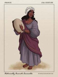 """Historically Accurate Esmeralda by Wickfield.deviantart.com on @DeviantArt - From """"The Hunchback of Notre Dame""""; click the pin for a very thorough historical description"""