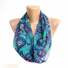 paisley  infinity scarf  women fashion accessory for by seno, $15.00