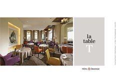 Création du concept, de la décoration du lieu, de la carte et du menu du restaurant La Table