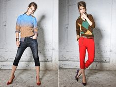 Dsquared2 Pre-fall 2012. somehow they make capris look cool again.