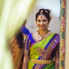 Hire a professional for your desired service in simple steps, we ensure a hassle-free service that delivers quality results. Hire a professional for your desired service in simple steps, we ensure a hassle-free service that delivers quality results. South Indian Weddings, South Indian Bride, Indian Bridal, Kerala Bride, Hindu Bride, Chennai, Parrot Green Saree, Blue Saree, Kanchipuram Saree