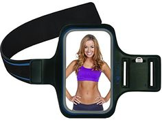 Kobert Exercise Armband (Blue) - for iPhone 6 Plus, 6S Plus, 6 5 5s 5c, Samsung Galaxy 6 S6 S5 S4, LG G2 G3 G4 + Key & C/Card Pockets, Earphone Holder - 2 Pack