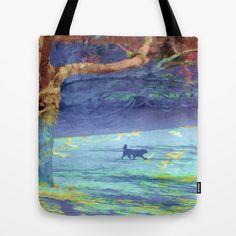 VIDA Tote Bag - Tranquility - Lily Pads by VIDA b48jTlbTJ