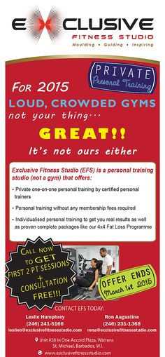 For 2015.....Loud, Crowded Gyms Not Your Thing?