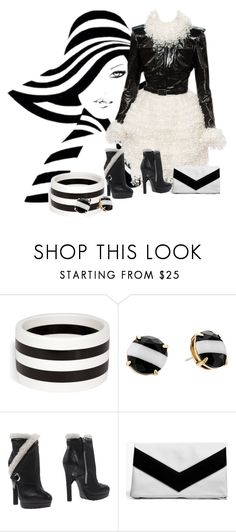 """""""Black and white world"""" by aida-ida ❤ liked on Polyvore featuring R.J. Graziano, Kate Spade, Chanel, Alexander McQueen and Boohoo"""