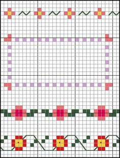 Floral Cross Stitch Borders