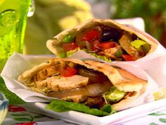 Grilled Chicken Pitas from FoodNetwork.com