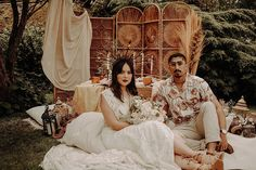 edouin Love Story is inspired by the more natural and textured side of Moroccan styling, a trend that comes with an appreciation for stripped back decor… Bedouin Tent, Tent Set Up, Nature Color Palette, Bohemian Wedding Inspiration, Moroccan Wedding, Embellished Gown, Real Couples, London Wedding, Wedding Shoot