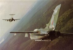 _RAF Tornado & Buccaneer over Germany 1984 Military Helicopter, Military Jets, Military Aircraft, Fighter Aircraft, Fighter Jets, Blackburn Buccaneer, Aircraft Photos, Plane Photos, Close Air Support