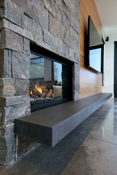 Wonderful Free of Charge floating Fireplace Hearth Thoughts Concrete Hearth, Floating Hearth Site Hard Topix Jenison, MI Floating Fireplace, Tv Above Fireplace, Concrete Fireplace, Fireplace Hearth, Home Fireplace, Fireplace Remodel, Living Room With Fireplace, Fireplace Surrounds, Fireplace Design