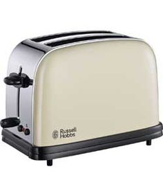 Check and reserve Russell Hobbs 23334 Colours+ 2 Slice Toaster - Cream at Argos.ie, your one stop shop for Cooking Appliances, Kitchen Appliances, Kitchen Utensils, Kitchen Tools, Russell Hobbs, Bread Bin, Brushed Stainless Steel, Bagels, Toaster