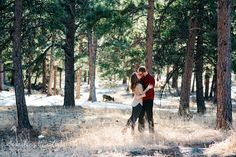 Click to see more Playful engagement photos, mountain engagement photos, fun engagement photos, winter engagement photos.  Mountain Wedding Photographer {Carolyn & Eric Engaged | Playful Winter Engagement Photos} — Searching for the Light Photography